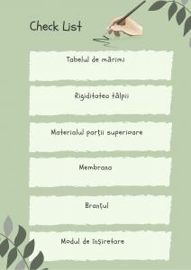 Check List Bocanci de munte